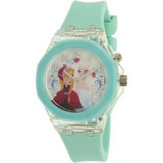 Disney Girls 'Frozen' Blue Plastic Quartz Watch