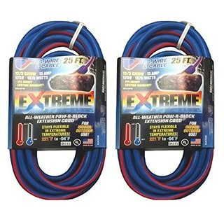 Prime LT630825 Ultra Heavy Duty 25-Foot Extension Cord (2-Pack)