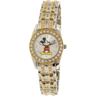 Disney Girl's Mickey Mouse MCK583 Gold/Silver Stainless Steel Quartz Watch