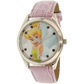 Disney Girl's Tinkerbell TNK612 Pink Leather Quartz Watch