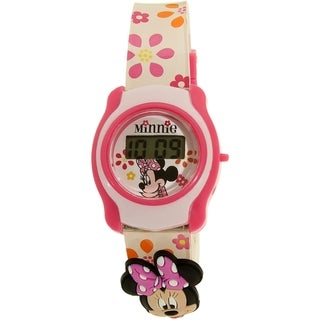 Disney Girl's Minnie Mouse MINKD193KM White Plastic Quartz Watch
