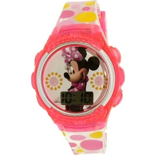 Disney Girls' Minnie Mouse Pink Plastic Quartz Watch