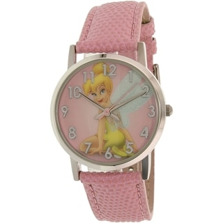 Disney Girl's Tinkerbell Pink Plastic Quartz Watch