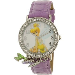 Disney Girl's Tinkerbell TNK509K Purple Leather Quartz Watch