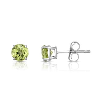 Noray Designs 14k White Gold Peridot 5mm Stud Earrings