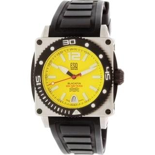 ESQ Blackfin Black Silicone Stainless Steel Swiss Quartz Men's Watch