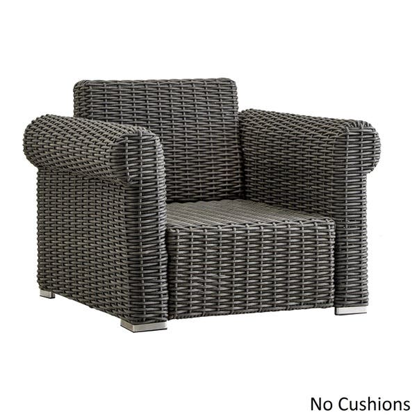 Barbados Wicker Outdoor Cushioned Grey Charcoal