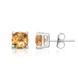 Noray Designs 14k White Gold Citrine Stud Earrings