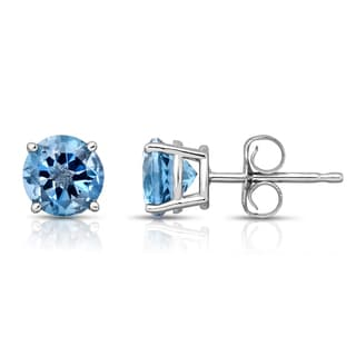 Noray Designs 14k White Gold London Blue Topaz Stud Earrings