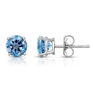 Noray Designs 14k White Gold London Blue Topaz Stud Earrings