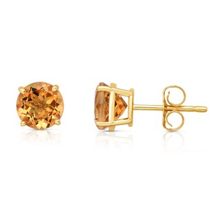 Noray Designs 14k Yellow Gold Citrine 6mm Stud Earrings