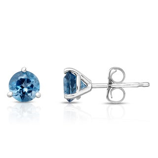 Noray Designs 14k Gold London Blue Topaz 5mm Stud Earrings