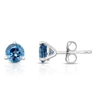 Noray Designs 14k Gold London Blue Topaz 5mm Stud Earrings