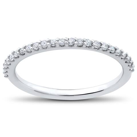 14k White Gold 1/4 ct TDW Eco Friendly Lab Grown Diamond Wedding Ring (F,G-SI1,SI2)