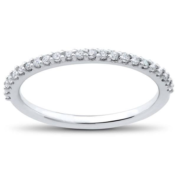 14k White Gold 1/4 ct TDW Eco Friendly Lab Grown Diamond Wedding Ring (F,G-SI1,SI2). Opens flyout.