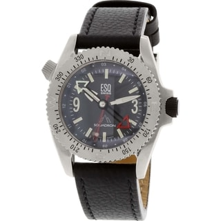 ESQ Squadron 07301124 Black Leather Swiss Quartz Men's Watch
