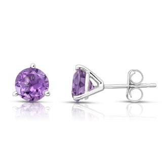 Noray Designs 14k Gold Amethyst Stud Earrings