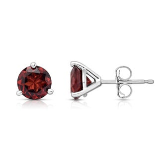Noray Designs 14k Gold Round-cut Garnet Stud Earrings