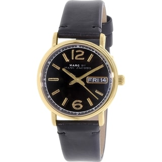 Marc by Marc Jacobs Men's Fergus MBM8651 Black Leather Quartz Watch