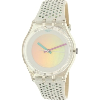 Swatch Girls' Gent GE246 Clear Suede Swiss Quartz Watch