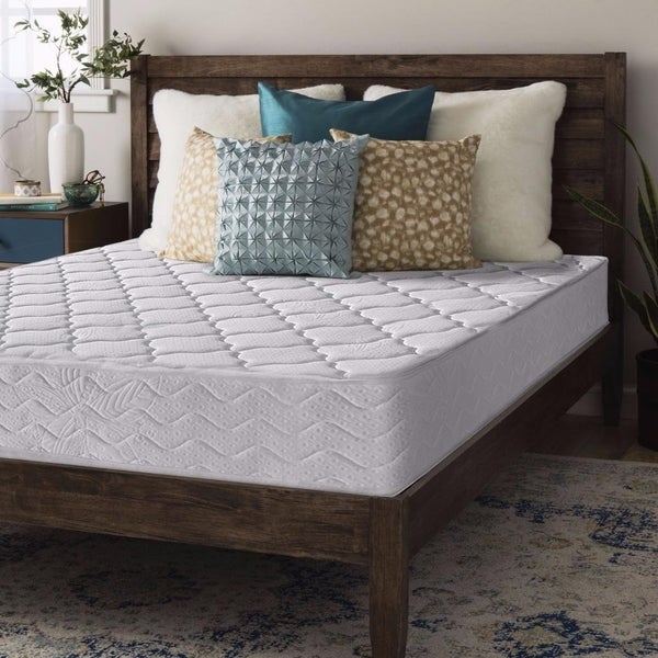 Twin size Coil Mattress Contour Support Pocketed  8 inch - Crown Comfort