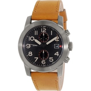 Marc by Marc Jacobs Men's Larry MBM5082 Brown Leather Quartz Watch
