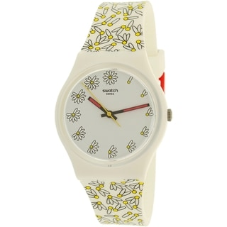 Swatch Girl's Gent GW174 White Silicone Swiss Quartz Watch