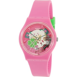 Swatch Girls' Gent Pink Silicone Swiss Quartz Watch