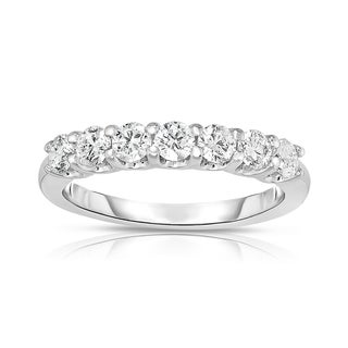 Noray Designs 14k White Gold 3/4ct TDW 7-stone Diamond Ring (G-H, SI1-SI2)