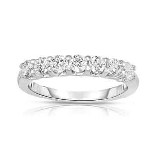 Noray Designs 14k White Gold 3/4ct TDW 7-stone Diamond Ring
