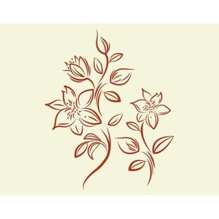 Style and Apply Lilies Nylon Wall Decal