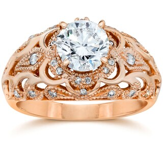 14k White Gold 3/4 Ct TDW Vintage Diamond Antique Engagement Ring (I-J, I1-I2)