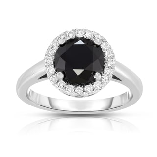 Noray Designs 14k White Gold 2 7/8ct TDW Black and White Diamond Ring (G-H, SI1-SI2)