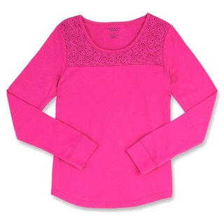 French Toast Girls' Long-sleeved Crewneck With Lace