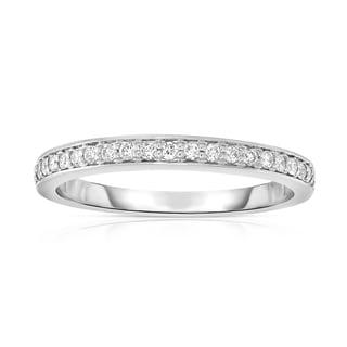 Noray Designs 14k White Gold 1/5ct TDW Diamond Wedding Band (G-H, SI1-SI2)