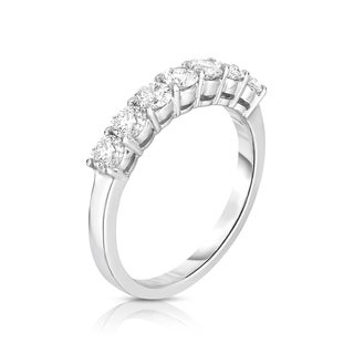 Noray Designs 14k White Gold 7-stone 7/8ct TDW Diamond Ring (G-H, SI1-SI2)