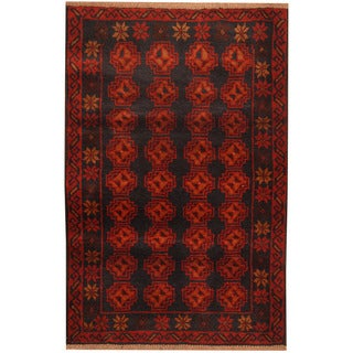 Herat Oriental Afghan Hand-knotted Tribal Balouchi Wool Rug (2'10 x 4'3)