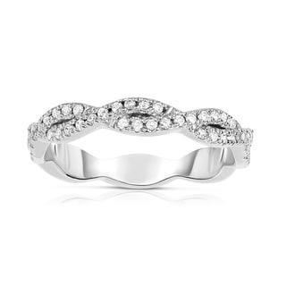 Noray Designs 14k White Gold 1/4ct TDW Diamond Infinity Ring