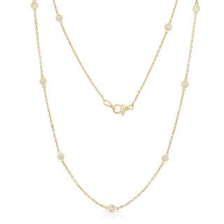 Noray Designs 14k Yellow Gold 1ct TDW Diamond by the Yard 10 Station Necklace (G-H, I1-I2)