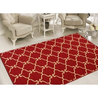 Sweet Home Stores Clifton Collection Polypropylene Moroccan Trellis Area Rug (7'10 x 9'10)