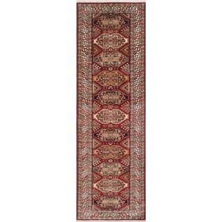 Super Kazak Saddam Ivory/Red Wool Rug (2'6 x 8'7)