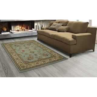Sweet Home King Collection Oriental Mahal Blue Teal Area Rug (7'10 x 9'10)