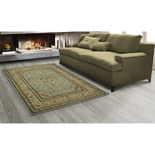 Sweet Home Stores King Medallion Design Oriental Area Rug (7'10 x 9'10) (Option: Blue)