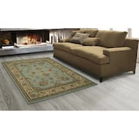 "Sweet Home Stores King Oriental Mahal Blue Teal Area Rug, - 5'3"" x 7'"