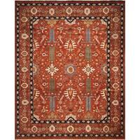 Fine Chobi Tahir Rust-colored Wool Rug (12'2 x 14'0)