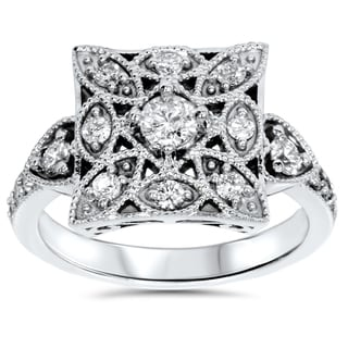 14k White Gold 5/8ct TDW Vintage Diamond Anniversary Ring