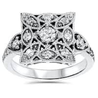 14k White Gold 5/8ct TDW Vintage Diamond Anniversary Ring