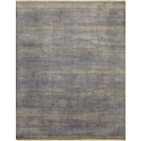 Noori Rug Fine Grass Umair Purple/Grey Rug - 8'0 x 10'1