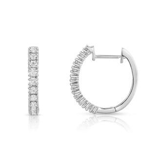 Noray Designs 14k White Gold 2/5ct TDW Diamond Hoop Earrings