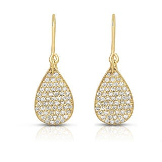 Noray Designs 14k Gold 3/4ct TDW Diamond Teardrop Earrings (G-H, I1-I2)